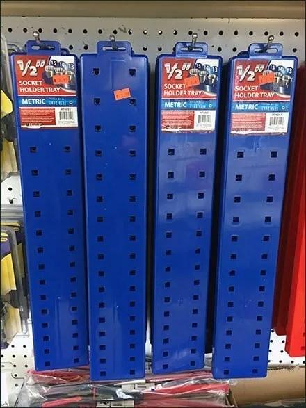 Metric Vs SAE Socket Holder Trays Color Coded