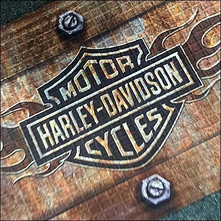 American Candle Shoppes Bolt-Down Harley Davidson Floor Mat Feature
