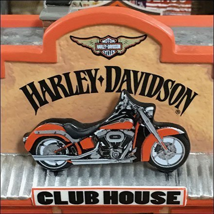 Harley Davidson Miniature Village Motorcycle Clubhouse