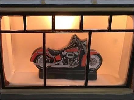 Harley Davidson Dealer Showroom Miniature Village
