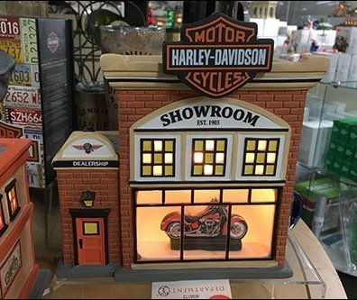 Harley Davidson Dealer Showroom Miniature Village