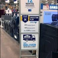 Appliance Merchandising Inducements Sign
