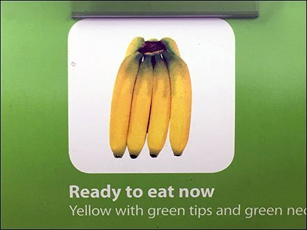 Banana Color Guide Shopper Produce Aid