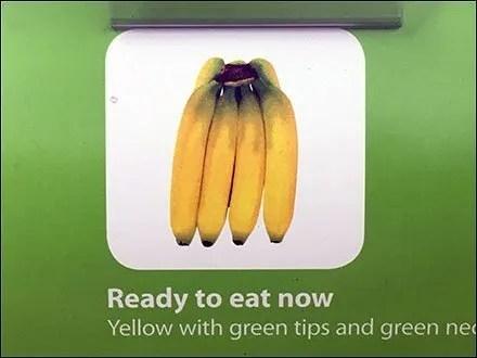 Banana Color Guide Shopper Produce Aid