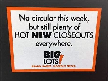 Big Lots No Circular This Week Announcement