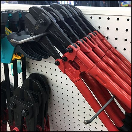 Bolt Cutter Twin Hook Angled Display