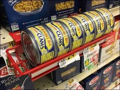 Bumble Bee Canned Shelf Edge Rack