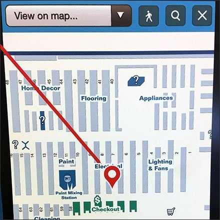 Comprehensive Store Navigation At Lowes Aux