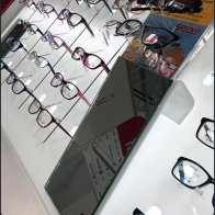 Declined Eyeglass Selection as Backlit Display
