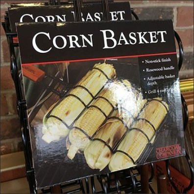Corn Basket Merchandising Dish Displayer