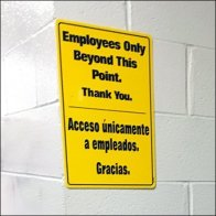 Employees Only Beyond This Point Feature