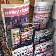 Ethnic Grocery Polish Newspaper Rack
