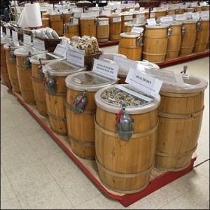 European Candy Barrel Bulk Merchandising