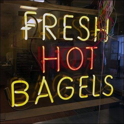 Hot Fresh Bagels Neon Sign Feature