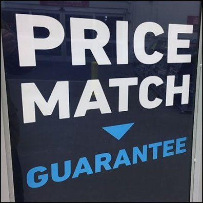 Price Match Guarantee Entry Sign Assurance