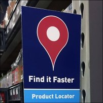 Product Locator Aisle Reminder Sign