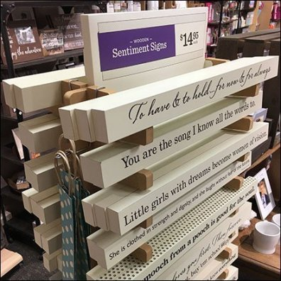 Sentimental Wood Sign Stacked Tower