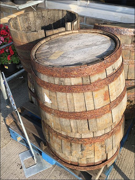 Vintage Wood Barrel Recycling And Resale