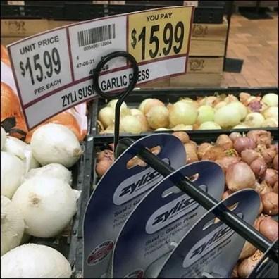 Garlic Press Cross Sell Produce Hook