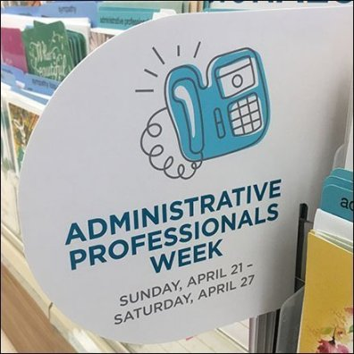 Timely Administrative Professionals Greeting Card Display