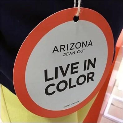 Arizona Jean Live in Color Hang Tag