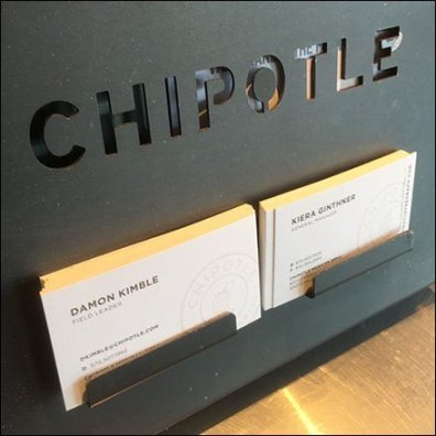 Chipotle Die-Stamped Business Card Holder