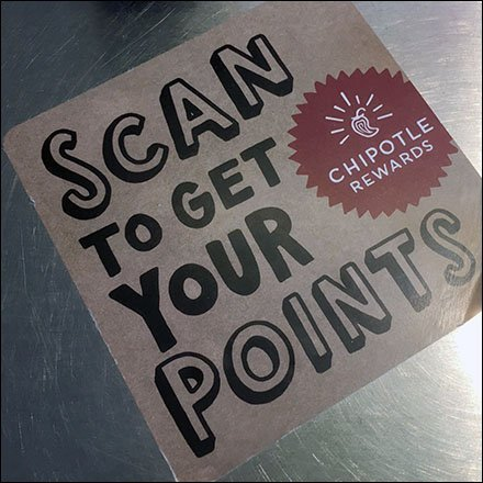 Chipotle Rewards Scan For Points Reminder