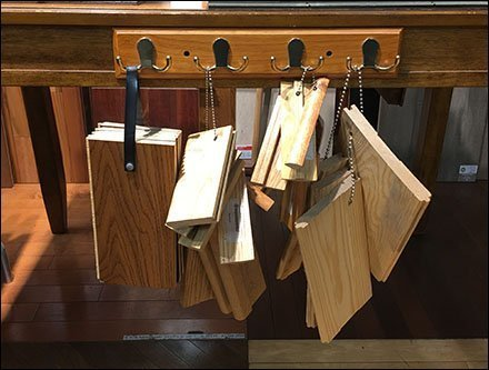 Ganged Coat Rack Sampler Outfitting