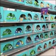 Easter Grass Full Aisle Merchandising