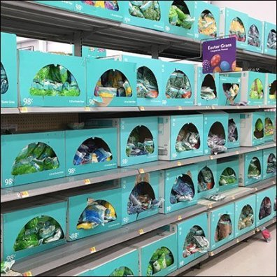 Easter Grass Full Aisle Merchandising