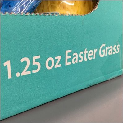 Easter Grass Aisle Multilingual Signage Aux
