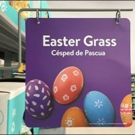 Easter Grass Multilingual Aisle Signage