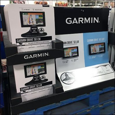 Garmin GPS Table-Top Display on Pallets