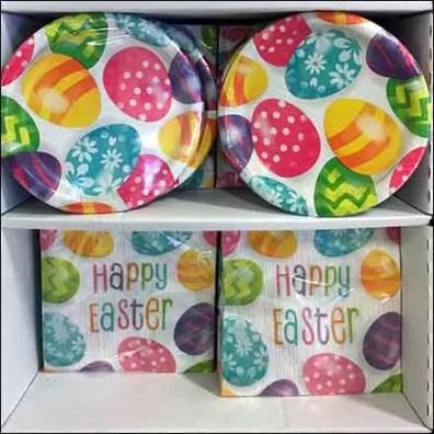 Happy Easter Partyware Paper Goods Display