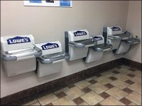 Staggered Drinking Fountain Amenities