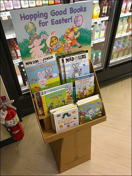 Hopping Good Easter Books Pedestal Display