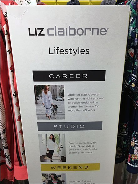 Liz Claiborne Point-Of-Purchase Sign
