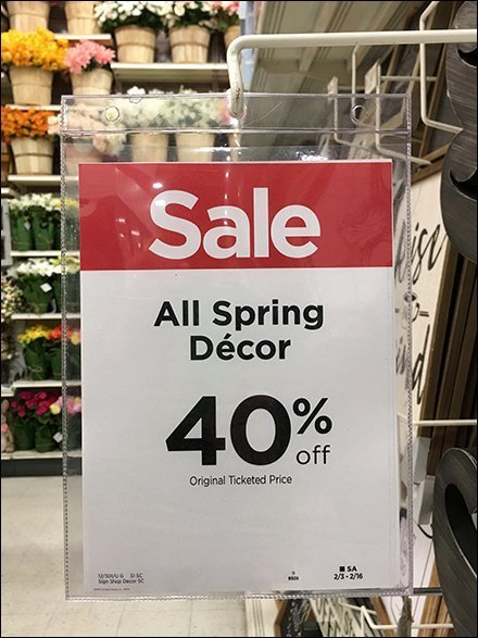 Spring Decor Sale Sign Redundancy