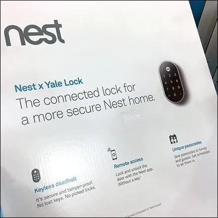 Nest Yale Lock Security Display