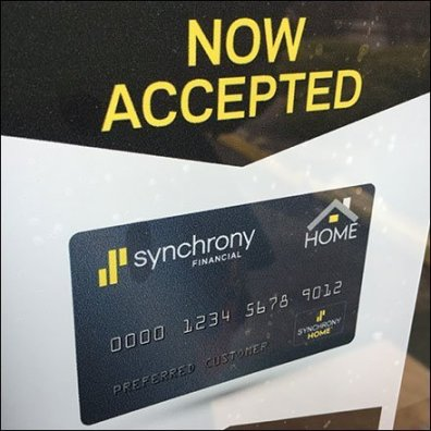 Now Welcoming Synchrony Credit Cards Feature