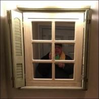 Restroom Mirror As Multi-Pane Window Feature