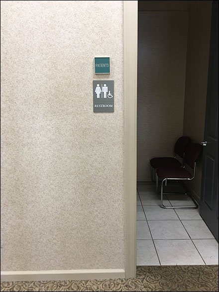 Sign System Coherence - Patients Restroom Only