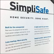 SimpliSafe Home Security Table-Top Display