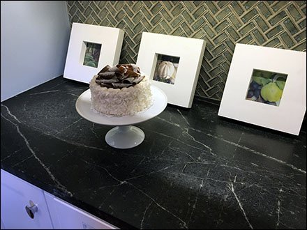 Chocolate Shaving Vanilla Cake Showroom Prop