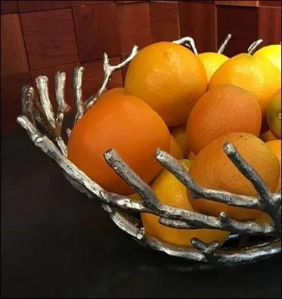 Textural Twig Lemon Bowl Showroom Prop