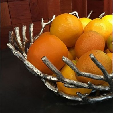 Textural Twig Lemon Bowl Showroom Prop