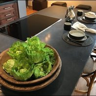 Fresh Salad Greens Prop Showroom Kitchen