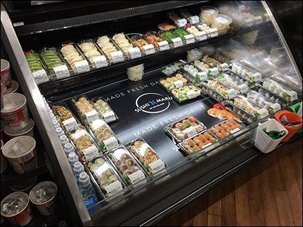 Maru Sushi Freshness Cooler Messaging