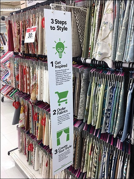 Three Steps To Style Instructions Aisle Sign