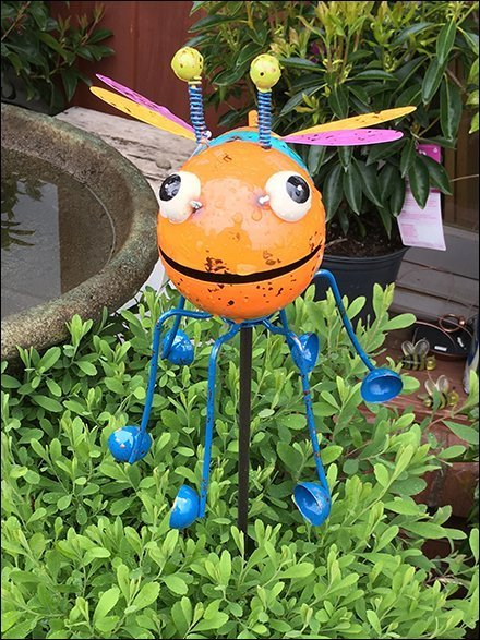Big Bug-Eyed Insect Garden Denizen Display